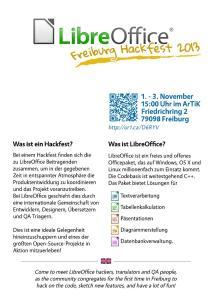 Freiburg Hackfest Flyer