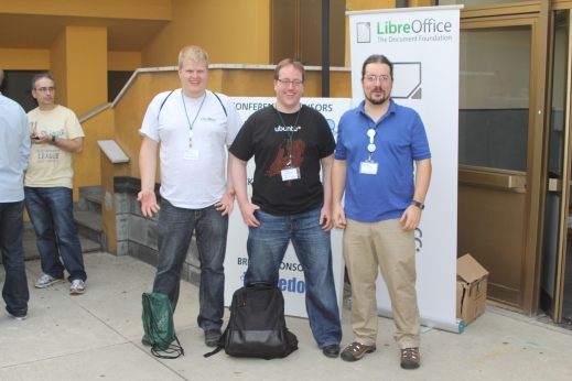 some LibreOffice QA contributorsRob, me and Robinson