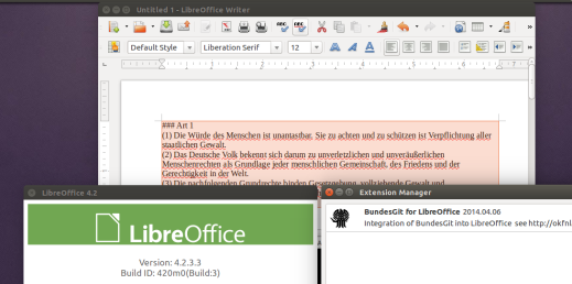 BundesGit for LibreOffice